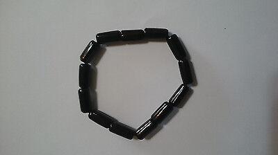 Best Beauty Hand CARVING CAMEO ~(black coral) bracelet 98mm.(ec251)