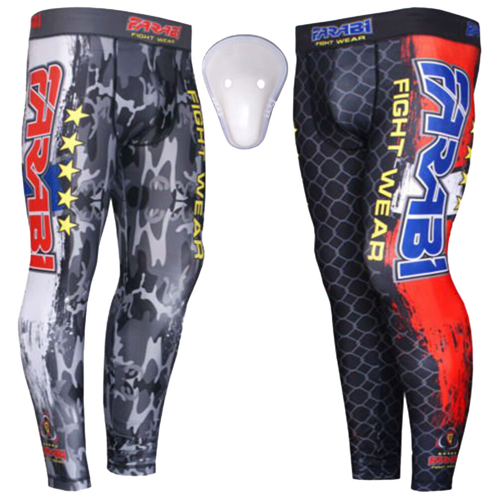 Farabi MMA Trousers Compression Pants Grappling Training Fitness Fighting Pants
