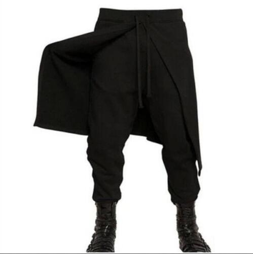 NEW Fashion Mens Long Pants Smart  Skinhy Punk Goth Korean Harem Casual Trouser