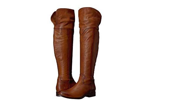 NEW FRYE 77624 Melissa OTK Cognac Leather Riding Western Boots Womens Size 7