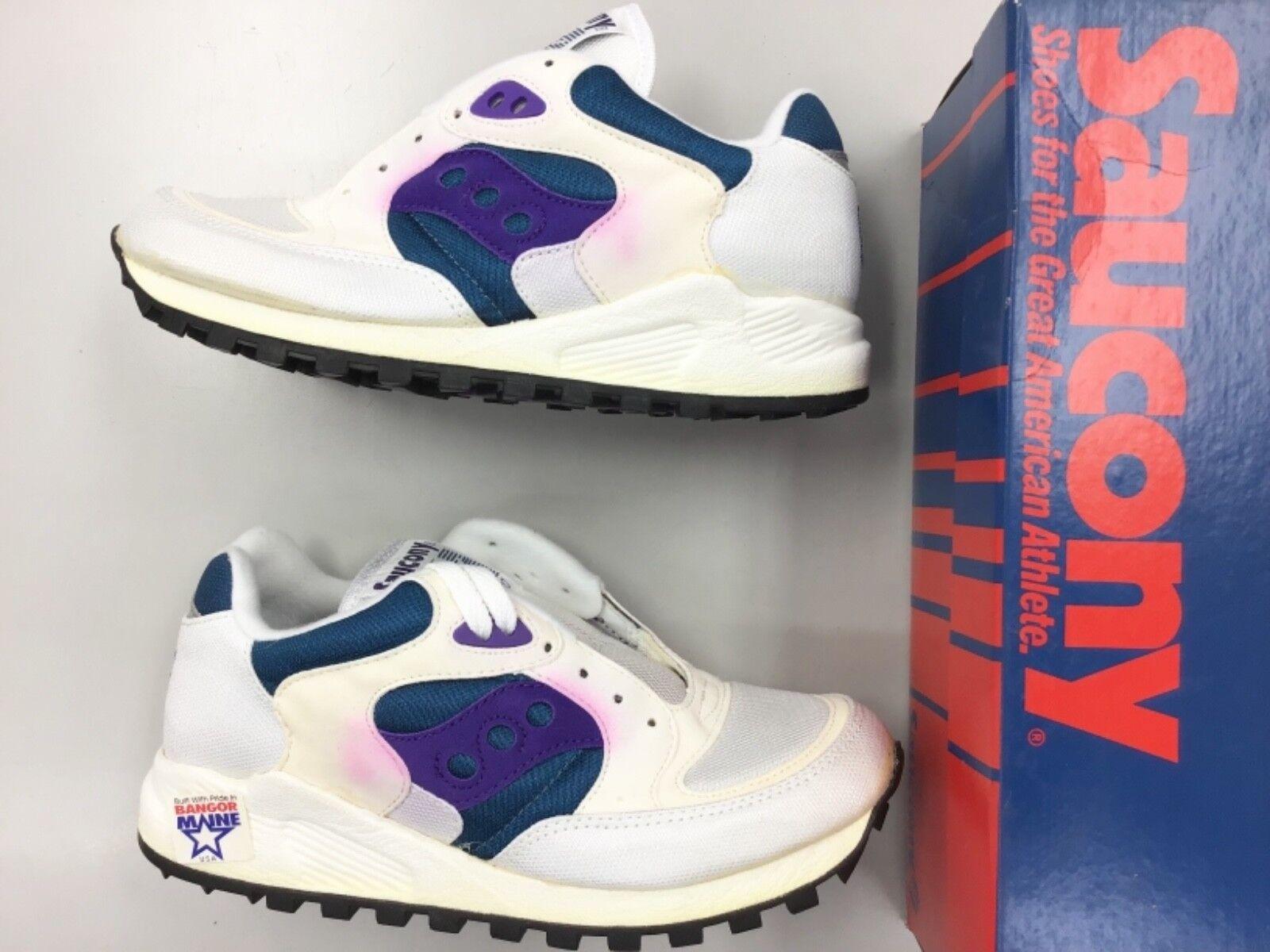 size 40 bad12 b41fa Vintage 90 s Saucony Jazz 4000 bianca Berry blu donna running running  running scarpe 59a87c