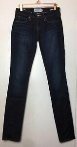 LUCKY-BRAND-Charlie-Skinny-Jeans-Size-00-24-Regular-White-Oak-Cone-Denim-Dark
