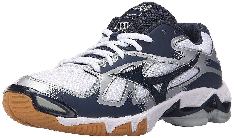 damen Mizuno Wave Wave Bolt 5 5 5 Volleyball schuhe Größe 7 Weiß Navy Blau 430204 3923a3