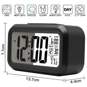 Calendrier Digital.Details Sur Numerique Reveil Led Digital Horloge Alarm Retro Eclairage Calendrier