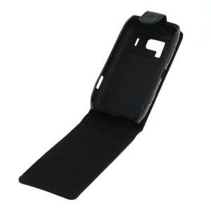 Flip-Case-Etui-Handytasche-Tasche-Hulle-f-Nokia-N8-00-Schwarz