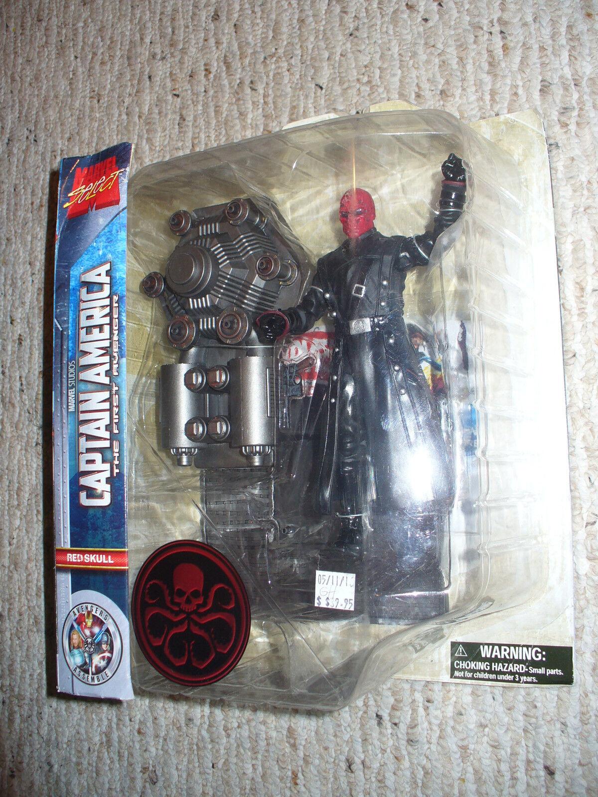 Marvel seleccionar-Diamond Select 7  figura-rosso cráneo-Cap America Primer Vengador