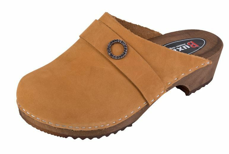 Wooden clogs  Nubuck  Honey Light Brown color PE1    US shoes Size  Women's