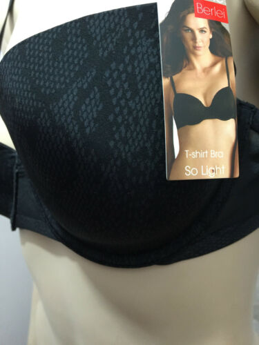 BNWT Womens Sz 14D Berlei Black Snake Underwire Bra T Shirt Style YZAL RRP $60