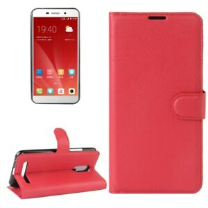 Cover-Wallet-Premium-Red-For-ZTE-Blade-A602-Case-Cover-Pouch-Protection-NEW