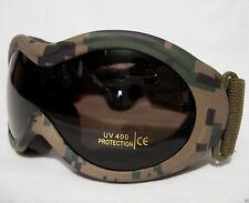 Infantry Goggles Digital Woodland Camo Fox Outdoor Military Tactical Eye UV400