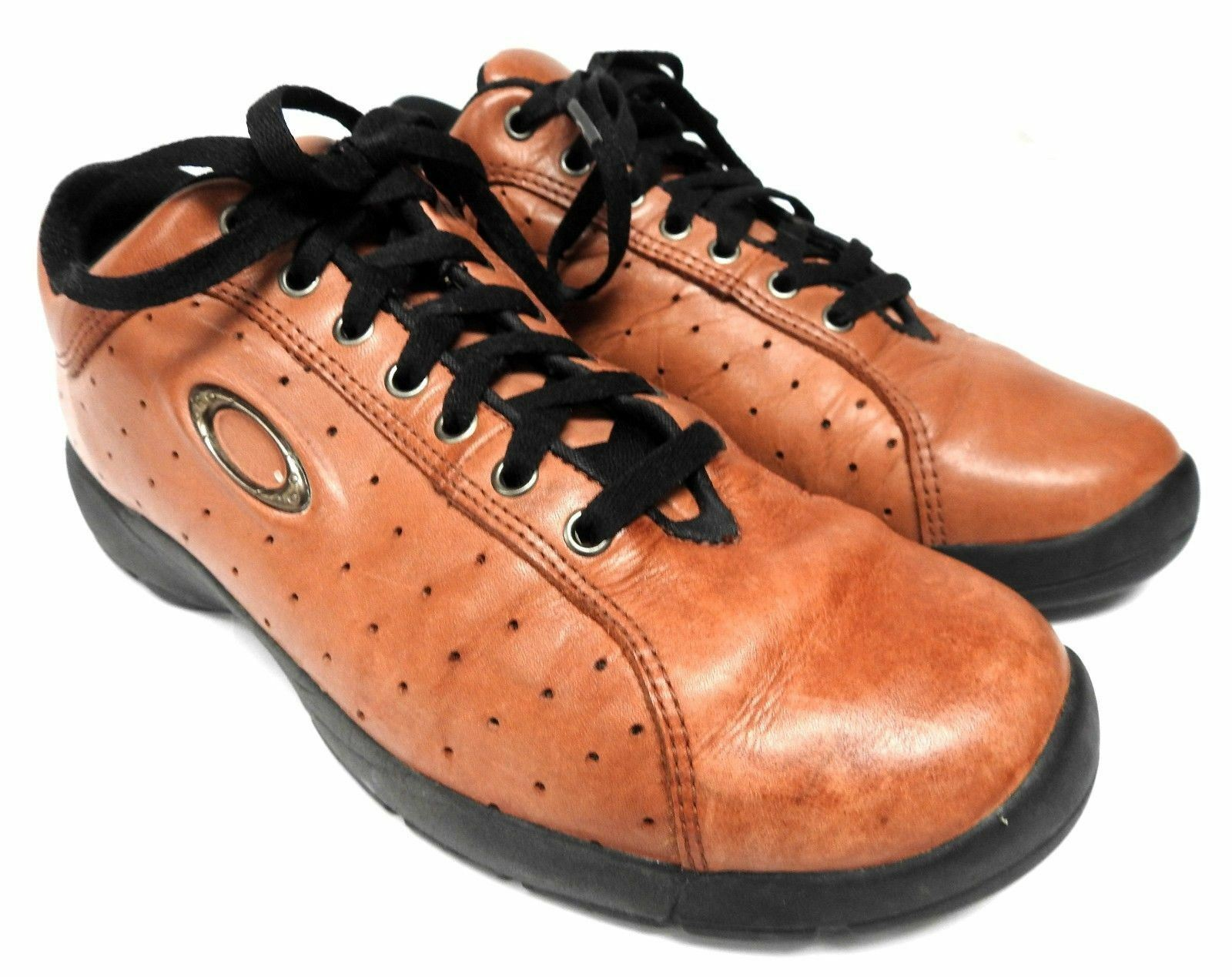 Authentic Oakley Tactical Hiking Trail brown Low leather Shoes USA 9 men's