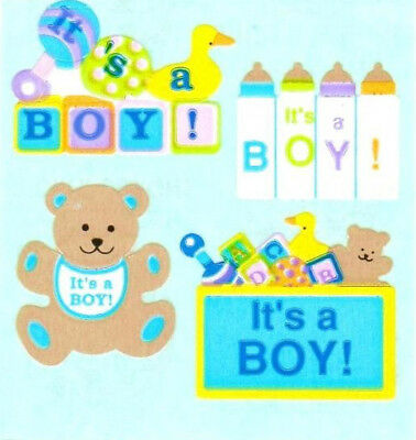 MULTI Sandylion BABY BOY OR GIRL FEET Strip of VINTAGE Stickers RETIRED RARE