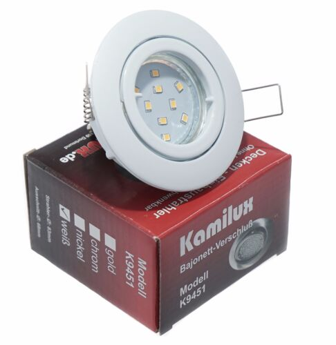 Einbauspot Bajo LED Einbaustrahler Leuchte GU10 5W SMD Einbaurahmen Led 230V