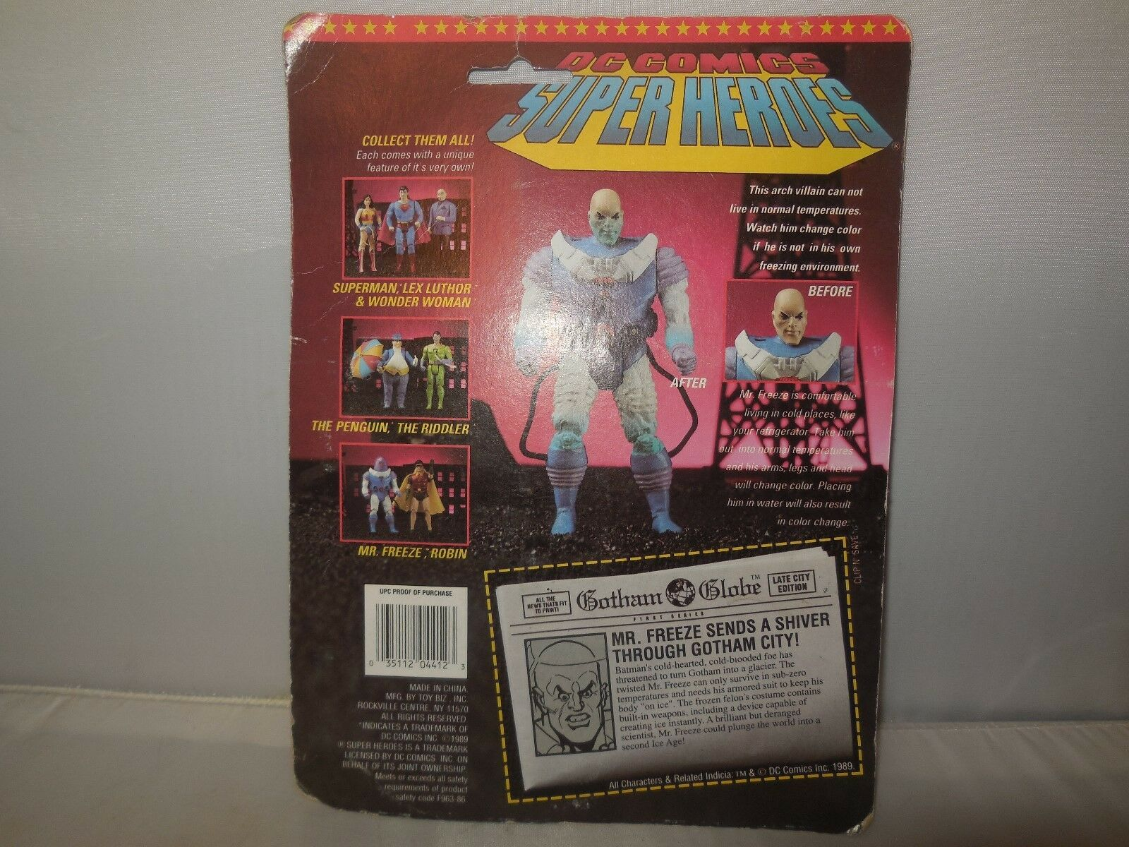 1989 1989 1989 toy biz dc comics super heroes mr. freeze figure ab8de4