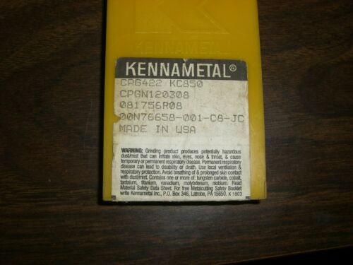 KENNAMETAL  CPG422  KC850  CPGN120308 INSERTS