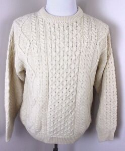 aran crafts ireland wool cable knit fisherman sweater