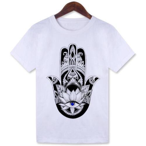 Women/'s Tshirt Hamsa Hand Crew Neck