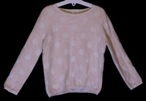 Girls-Carrement-Beau-Pale-Pink-White-Spot-Soft-Feel-Chenille-Jumper-Age-4-Years