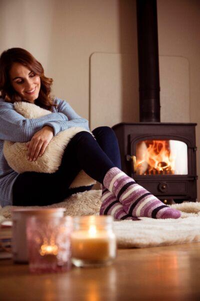 Heat Holders – Damen Gemusterte Winter Warm Themosocken Thermo Socken 37-42 EUR