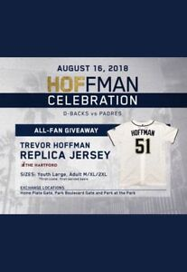 outlet store a3d64 7b6d6 Details about TREVOR HOFFMAN (San Diego Padres) jersey ~ Adult XL ~ SGA on  16 Aug 2018