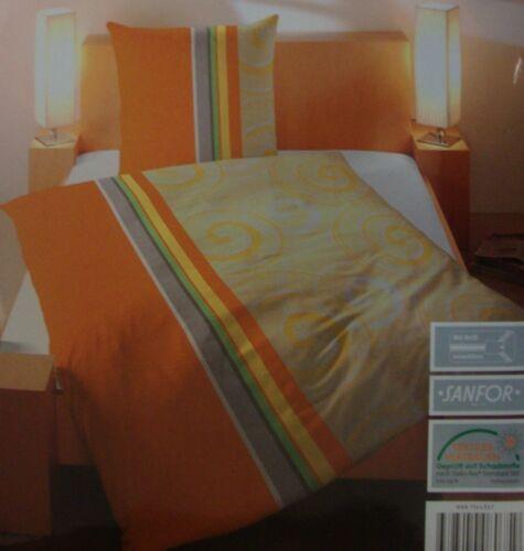 Linge DE LIT parure oreiller couvertures fermeture éclair orange 135//200 155//220 Nouveau