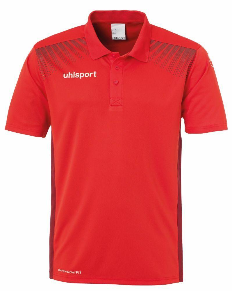 Uhlsport Fußball Goal Polo Shirt Herren Poloshirt rot bordeaux  | Bequeme Berührung