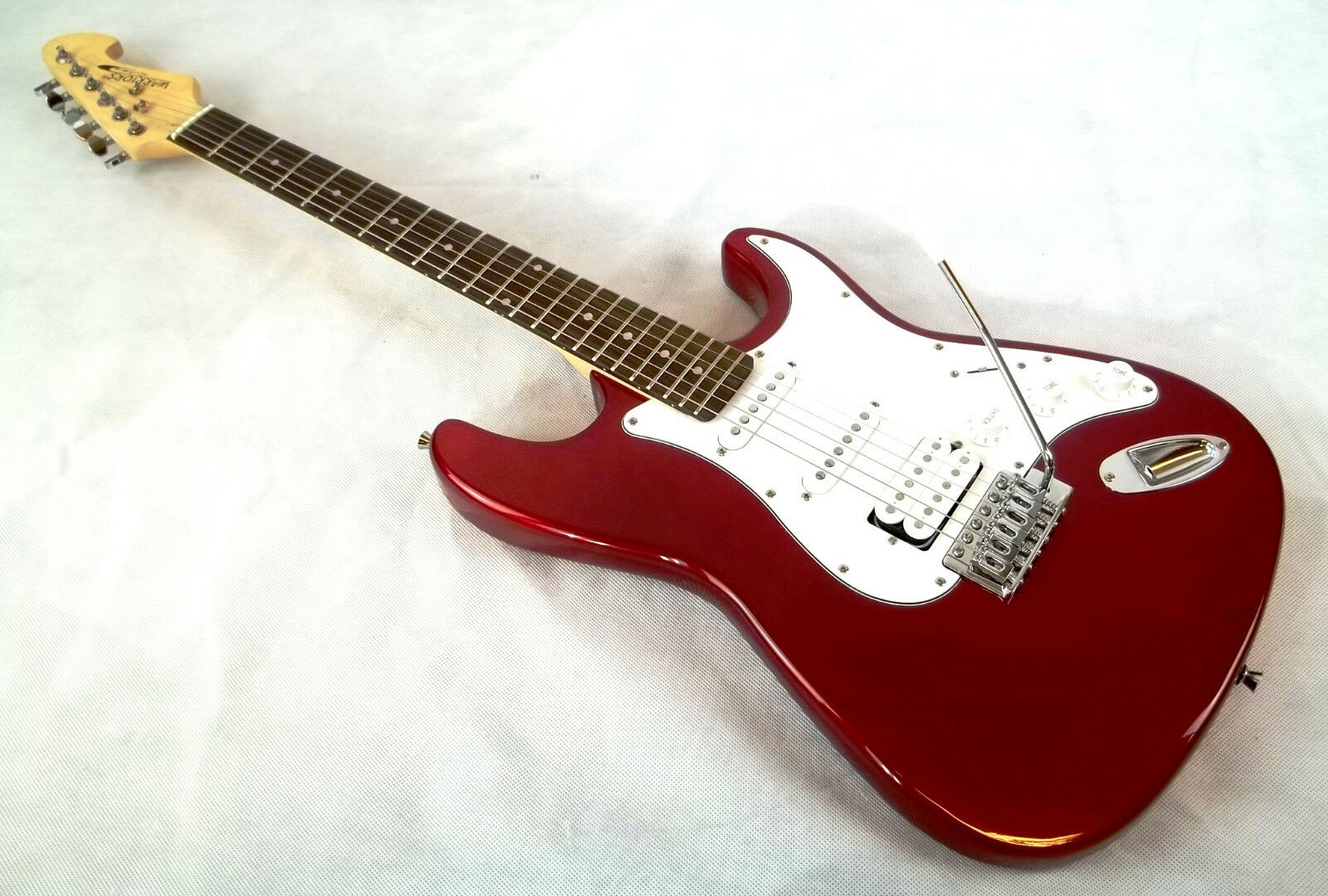 E-Gitarre SSH WARRIORS metallic rot·Stratocaster-Modell