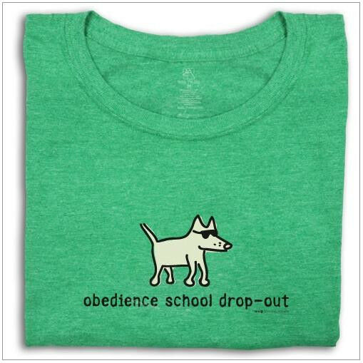 Teddy the Dog - Obedience School Drop-Out Slimmer Fit Tee T-shirt