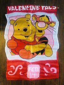 Disney Winnie The Pooh Decorative Flag VALENTINE PALS POOH/TIGGER 1999 28x44 New