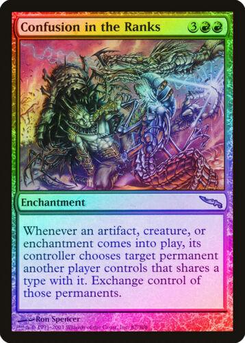Confusion in the Ranks FOIL Mirrodin NM-M Red Rare MAGIC GATHERING CARD ABUGames