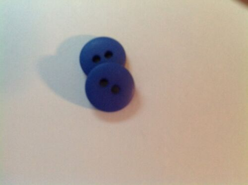 NEW 1//2 ROYAL BLUE  DULL// MATTE FINISH BUTTONS