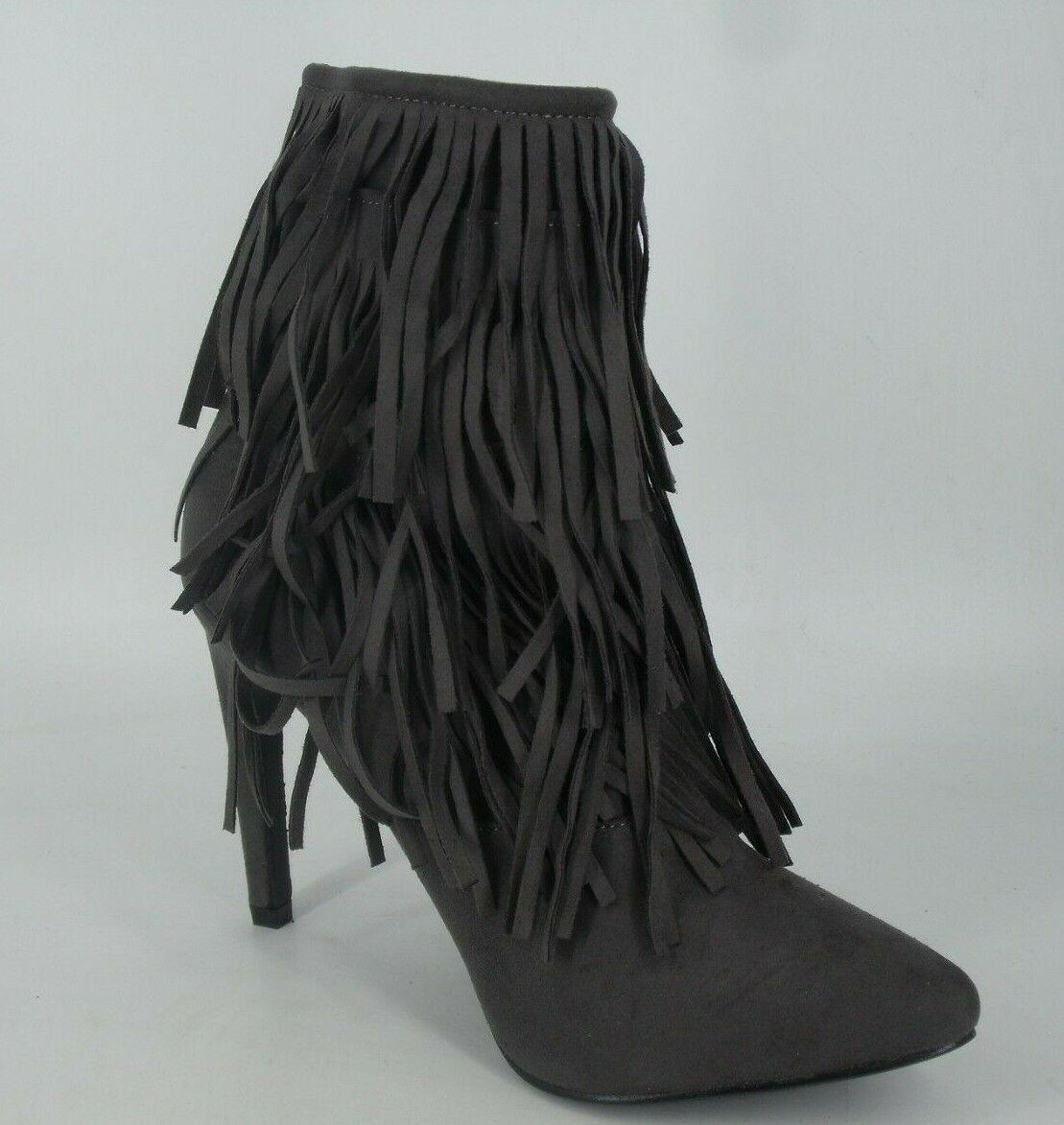 cc1722206a43 Missguided Grey Tassel High Heel Boots UK EU 39 NH092 UU 07 6 Pointed  qcsusb1238-Women s Boots. Ladies Black.