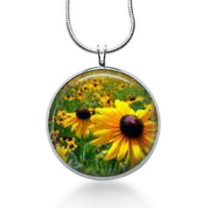 Sunflower necklace flowers floral yellow sunflower pendant image is loading sunflower necklace flowers floral yellow sunflower pendant garden aloadofball Gallery