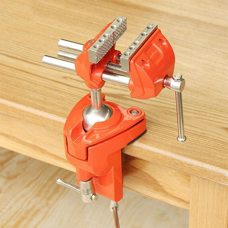 Universal Xarbon Steel Gunsmiths Bench Table Vise Vice Orbital Joint rot