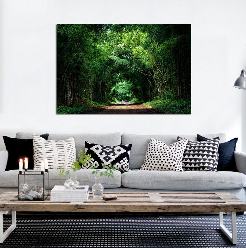 3D Grün Bambuswald Weg  876 Fototapeten Wandbild BildTapete AJSTORE DE Lemon