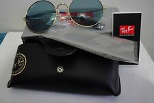 4feddc973b Ray-Ban Rb3592 001 f7 55mm Gold light Blue 100 UV Metal Women Round ...