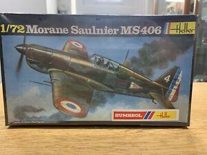 HELLER-Morane-Saulnier-MS406-1-72-213-Model-kit-Aircraft-Figher-Plane