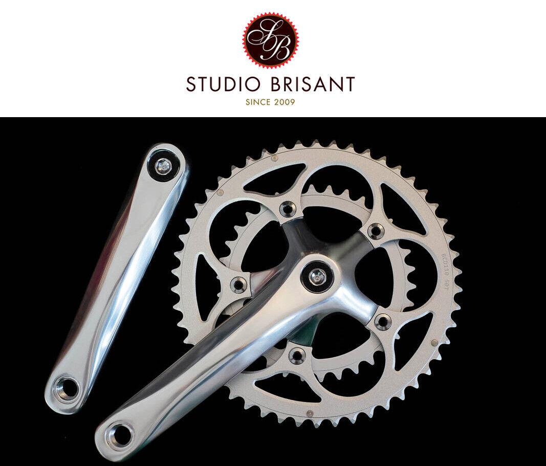 Studio Kompakt Kurbel Satz LK110 silber, schwarz 170 +175mm Zähne 50 34 Crank Set