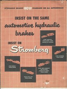 MA-103 Stromberg Automotive Hydraulic Brakes Catalog 1930's Illustrated