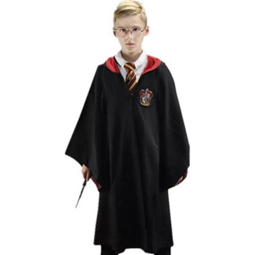 Harry Potter Costume Mans Wand cloak Gryffindor Glasses Kids Adult Robe Tie