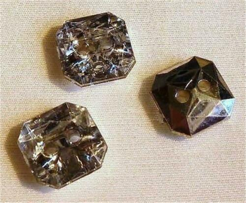 PACK OF 20 FAUX CRYSTAL BUTTONS CHOOSE FROM 3 SHAPES
