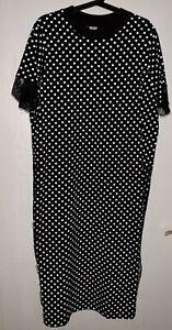 Asos Kleid gepunktet schwarz/weiss Spitze 46 | eBay