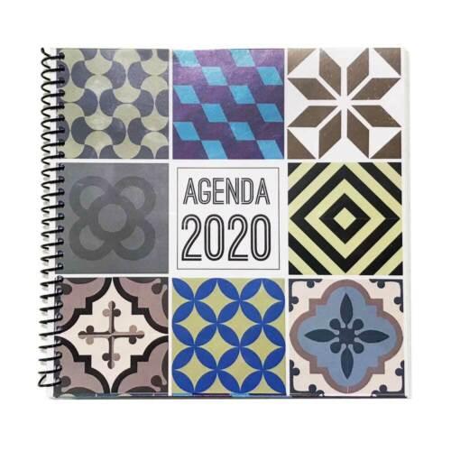 15x15cm semana vistaDiseño Barcelona suelos hidráulicos Agenda 2020 anual