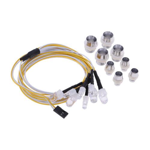 RC Autoscheinwerfer Rücklicht 8 LED Lampenkit für 1//8 1//10 Electric Nitro