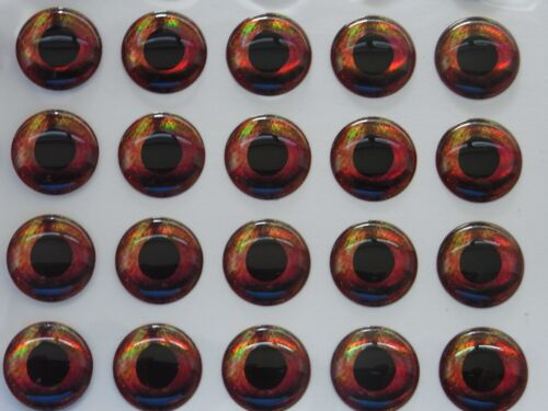 C 100 X  3D HOLOGRAPHIC 12MM REAL FISH EYES FOR FLY TYING,LURE,FLIES,PIKE,BASS,
