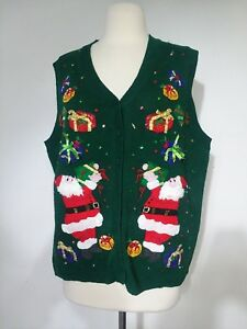 Carly-St-Claire-Sweater-Vest-Ugly-Christmas-Sweater-Women-039-s-Size-Large
