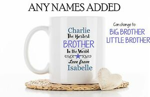 Image Is Loading Personalised Mug Best Brother Little Big Cup Coaster