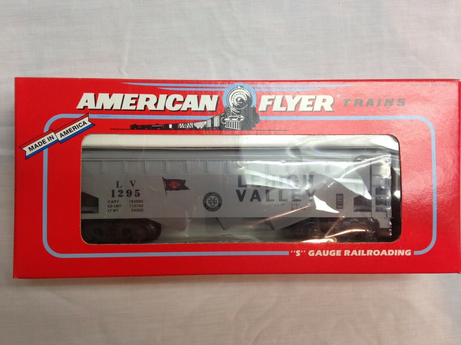 American Flyer Lionel 484941995 Lehigh Valley Coverosso Hopper