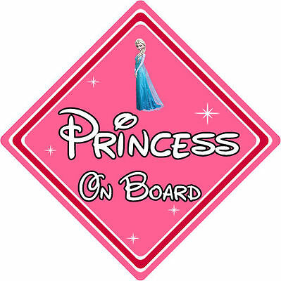 Baby On Board Anna From Frozen Personalised Disney Princess On Board Car Sign