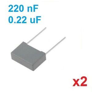 Lot-de-2-Condensateurs-MKP-X2-0-22uF-0-22-F-220nF-275V-310V-15-5mm